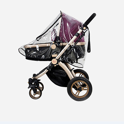 Clear Stroller Rain Cover Universal Buggy Baby Pushchair Dust Shield Wind Shield