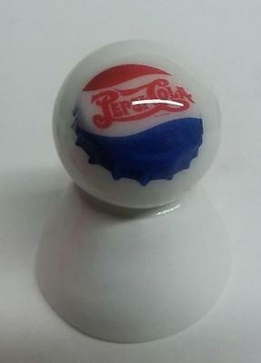 Very Nice Pepsi Cola Glass Marble With / Stand