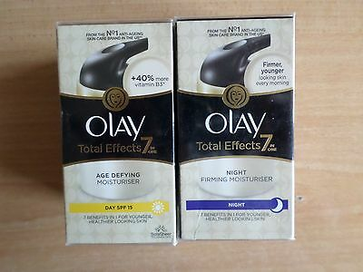 Olay Total Effects 7 In 1 Age Defying Day & Night Moisturiser 2 X 50Ml