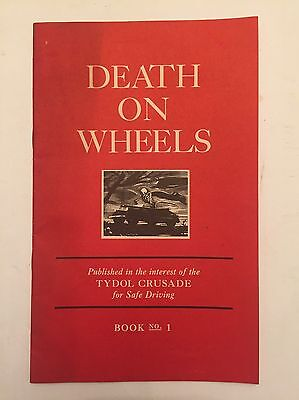 1938 Death On Wheels Tydol Gasoline Crusade For Safe Driving Paper Ephemera Auto