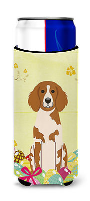 Easter Eggs Brittany Spaniel Michelob Ultra Hugger for slim cans