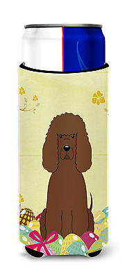 Easter Eggs Irish Water Spaniel Michelob Ultra Hugger for slim cans