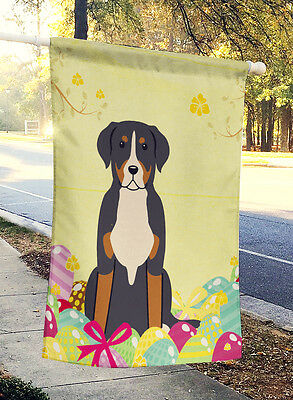 Easter Eggs Greater Swiss Mountain Dog Flag Canvas House Size