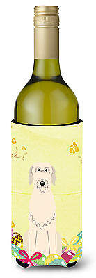 Easter Eggs Irish Wolfhound Wine Bottle Beverge Insulator Hugger