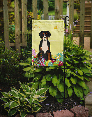 Easter Eggs Greater Swiss Mountain Dog Flag Garden Size