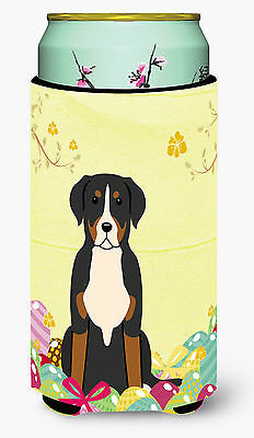 Easter Eggs Greater Swiss Mountain Dog Tall Boy Beverage Insulator Hugger