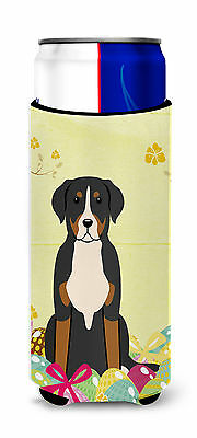 Easter Eggs Greater Swiss Mountain Dog Michelob Ultra Hugger for slim cans