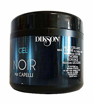 Black Gel Dikson Noir Modellante Capelli Grigi Formato 500Ml Nero
