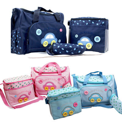 Baby Bags Multi-Function Baby Diaper Nappy Bag/Mummy Changing Set Handbag 4 PCS