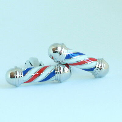 Red, White and Blue Barber Hairdresser Cufflinks