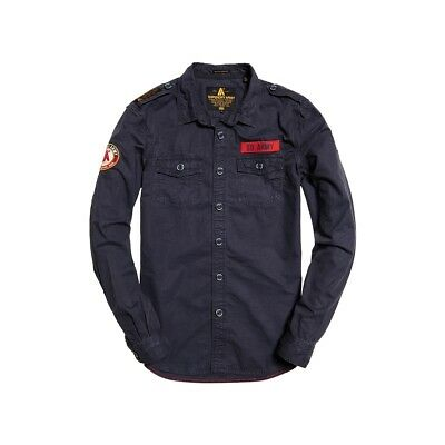 Chemise Superdry Ultra Light Army Corps Trench Navy