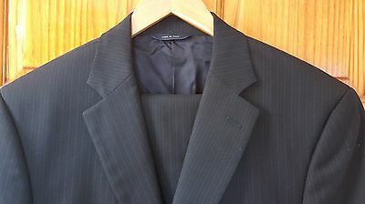 Brooks Brothers 1818 Madison Blue Striped Estrato Suit Made in Italy 41 40 42