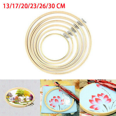 Popular Wooden Cross Stitch Machine Embroidery Hoop Ring Bamboo Sewing 13~30cm