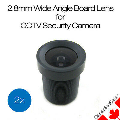 (2 Pack) Evetar OEM 2.8mm Wide Angle Board Lens for CCTV Security Camera