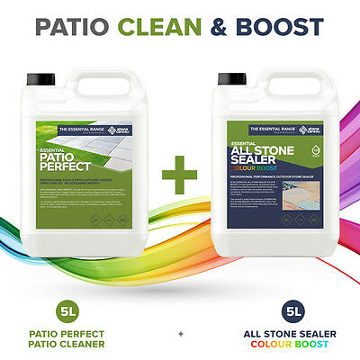 CLEAN & BOOST: DIY Patio Bundle (Mid-sized) For cleaning & sealing dirty patios