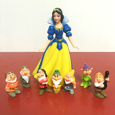 Snow White and the Seven Dwarfs Figure Collection Set Garage Kit Toy Gift
