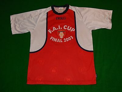 St Patricks Athletic Ireland Fai Cup Final 2003 Football Shirt ,mens Small