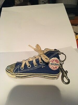 Vintage Coca-Cola High Top Blue Tennis Shoe Coke Keychain Sneaker