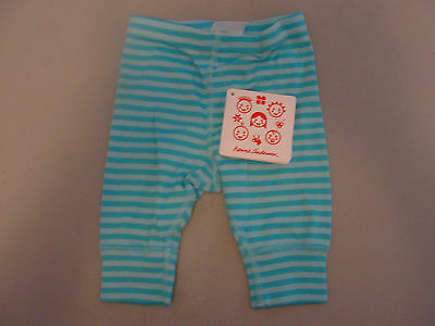 NWT Hanna Andersson Blue Striped Wiggle Pants 50  0-3 months