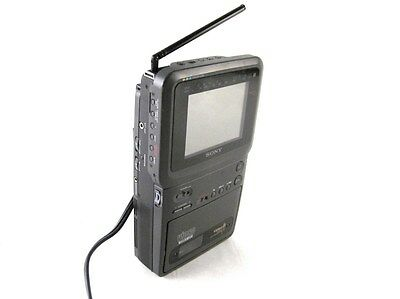 Vintage Sony GV-9 Portable Video 8 Color LCD TV Player Recorder Walkman+Battery