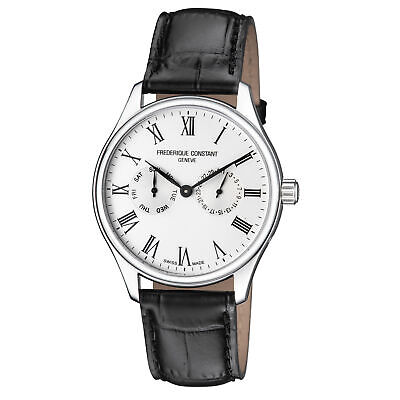 Frederique Constant Classics Silver Dial Leather Strap Men's Watch Fc-259Wr5B6