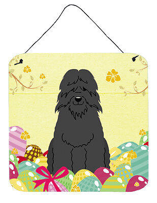 Easter Eggs Bouvier des Flandres Wall or Door Hanging Prints