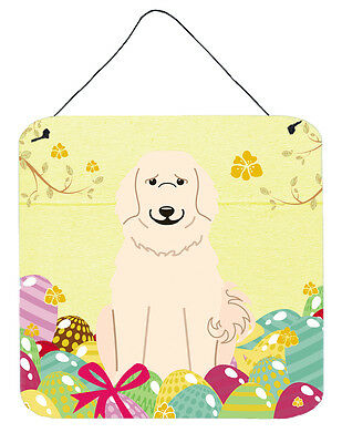 Easter Eggs Great Pyrenese Wall or Door Hanging Prints
