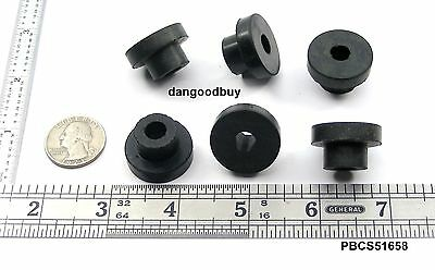 "12 Flex Plastic Push-In stem Bumpers  ""Rubber Feet"" 7//16/"" Diam Fits 1//4/"" Hole"