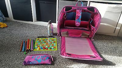 Girls Pink YUU Bag HUUG with accessories snakes & ladders drinks bottle