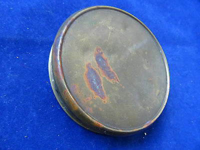 A Vintage Trench Art Brass Fly Fishing Fly Cast Tin