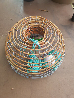 Cane Fisheries Lobster Crayfish trap with float and rope, bait bag and Anode.