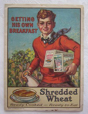 Antique 1928  Advertising  Shredded Wheat Cereal Litho Phamplet Booklet