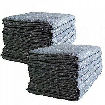 "Cheap Cheap Moving Boxes - Textile Moving Blankets (12-Pack) - Grey - 72""... NEW"