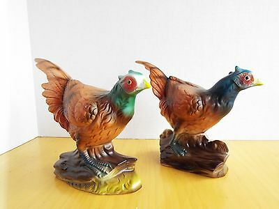 2 Pheasant Figurines made in Japan