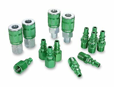 ColorConnex Coupler & Plug Kit (14 Piece) ARO Type B 1/4 in. NPT Green A7... NEW