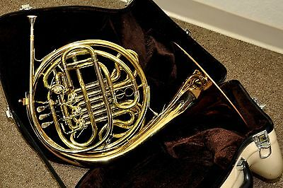 Eastman EFH520G 4 Valve F/Bb Double French Horn Gold Brass Bell Kruspe Wrap