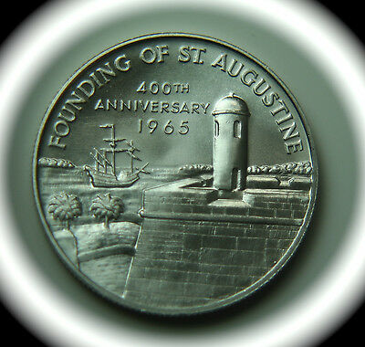 Founding of St Augustine 400th Anniversary Heraldic Art Sterling Silver Medal