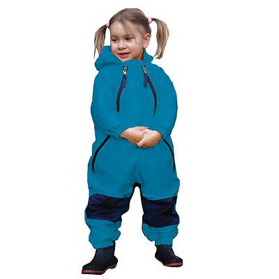 Muddy Buddy Rain Suit All in One Waterproof Coverall - Blue TUFFO