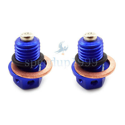 2pcs Magnetic Oil Drain Bolt Plug For 50-160cc Lifan YX Zongshen Pit Dirt Bike