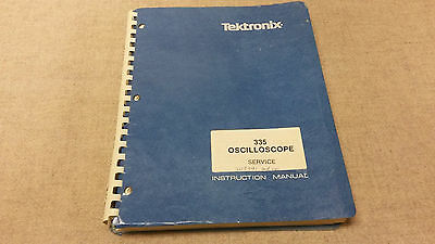 Tektronix 335 Oscilloscope Service & Instruction Manual