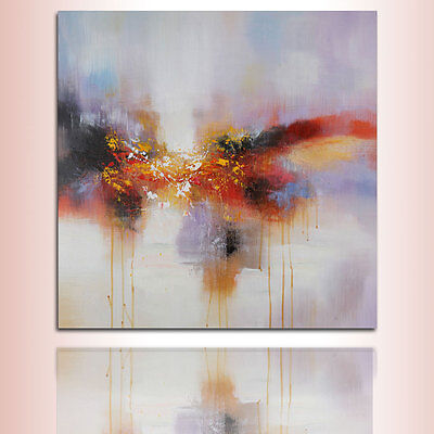 Modern Abstract Scenery Oil Painting On Wall Art Decor Canvas Handpainted Framed