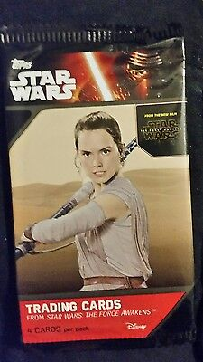 14 packs of Star Wars The Force Awakens Series 1 trading cards