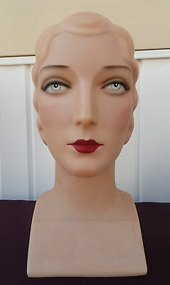 Decoeyes Mannequin Head/Bust Vintage 1920's Style Store Hat Display Roxie