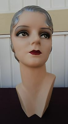 Decoeyes Mannequin Head/Bust 1930's Art Deco Style Store Hat Display Zoe