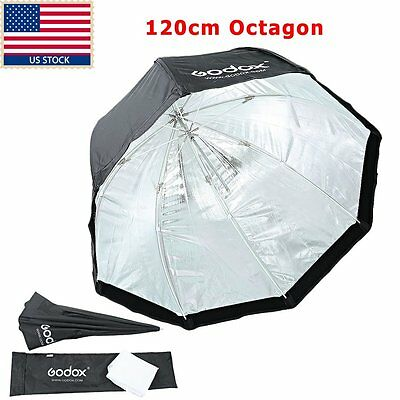 "US GODOX 47"" 120cm Octagon Umbrella Softbox for Studio Flash Speedlite Universal"