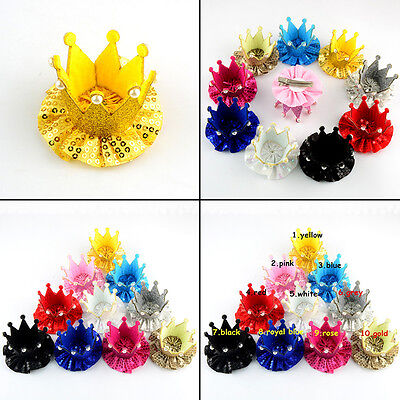 10pcs Kids Girl Baby Crown Hair Clip Hairpin Princess Hair Accessories Wholesale