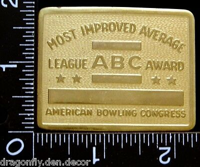 Most Improved Ave League Award American Bowling Congress BELT BUCKLE