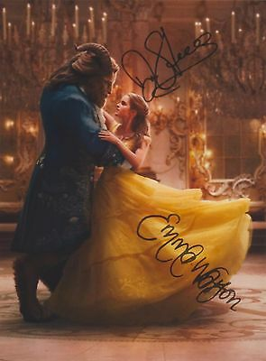 Beauty and the Beast (2017) Emma Watson Dan Stevens RARE DUEL-SIGNED RP 8x10!!!