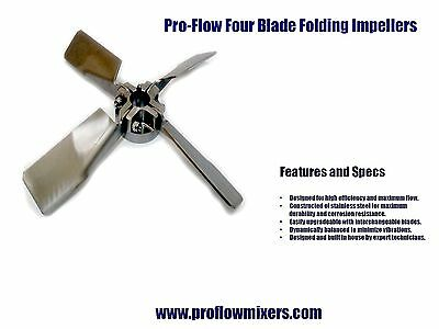 IBC Tote Mixer Folding Impeller (8 Inch 4 blade)