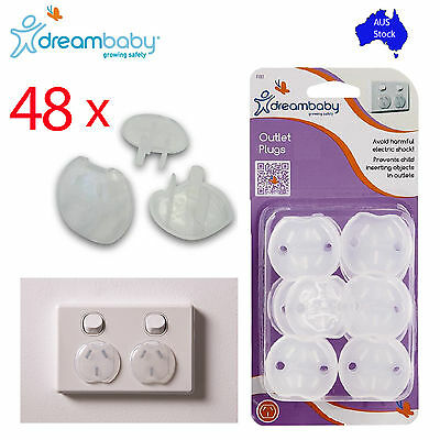 48x NEW DREAMBABY Baby Child Safety Power Board Covers Socket Outlet Protector